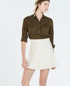 Image 2 of FANCY SEAMED MINISKIRT from Zara