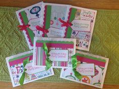 Cute Handmade Christmas Cards  Pink & by ErinsCardsPaprCreate