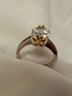 Silver Tone Clear Crystal Ring
