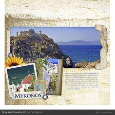 Greek Clipart Greece Digital Scrapbook by TrishYochumDesigns