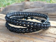 Flow- Leather and Lava essential oil bracelet. Rub essential oil to the lava stones and they absorb and diffuse the oil for 3-5 days. Wear your aromatherapy!  www.lavha.com