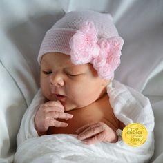 NEWBORN GIRL take home outfit/ Newborn Beanie by InfanteenieBeenie