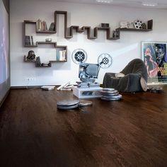 Black and Dark and Oak and Walnut Engineered Flooring Wood Flooring Uk, Refinish Wood Floors, Old Wood Floors, Engineered Wood Floors, Concrete Floors, T Home, New Carpet, Flooring Options, New Homes