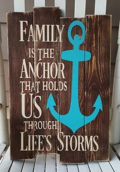 Cricut explore air 2 Family Is The Anchor That Holds Us Through Life's Storms pallet sign Your Mattr Pallet Crafts, Diy Pallet Projects, Wood Crafts, Wood Projects, Pallet Ideas, Wood Ideas, Lac Champlain, Used Pallets, Woodworking Projects That Sell