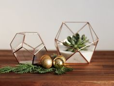 Meet Dodecahedron! Little gemlike geometric glass terrarium featuring one of the most charming Archimedean solids in geometry. This geometric planter is