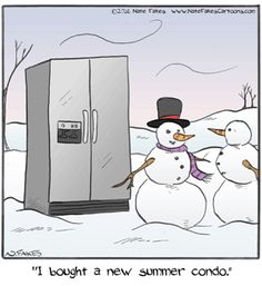 Today on Break of Day - Comics by Nate Fakes Far Side Cartoons, Funny Cartoons, Funny Comics, Snowman Jokes, Snowman Cartoon, Funny Gags, Funny Jokes, Hilarious, Christmas Jokes