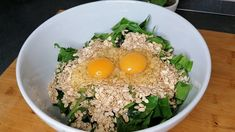 Easy Cooking, Healthy Cooking, Healthy Snacks, Healthy Eating, Healthy Recipes, Spinach Recipes, Egg Recipes, Appetizer Recipes, Spinach And Cheese
