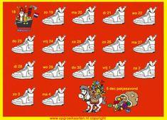 Schoenkalender 5 dec 2017. Voor kinderen die structuur nodig hebben in de spannende tijd van Sinterklaas. Precies aangeven wanneer de schoen gezet mag worden.