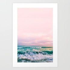 beach sunset photo Art Print