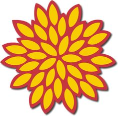 2D Chrysanthemum SVG for Sure Cuts a Lot