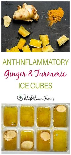 Ginger Turmeric Antiinflammatory Ice Cubes Help body to fight inflammation with this easy Healthy AntiInflammatory Diet Recipe Keto and Paleo Diet Friendly Also works. Nutrition Education, Sport Nutrition, Nutrition Tips, Health And Nutrition, Fitness Nutrition, Fitness Tips, Proper Nutrition, Health Tips, Nutrition Classes