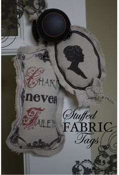 stuffed fabric tags