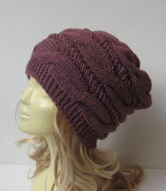Slouchy Beanie  Hand Knit Hat  Slouchy hat  by selmahandcraft
