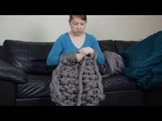 How to knit chunky blanket, basic arm knitting tutorial, My Crafts and DIY Projects