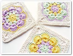 African Flower Square ~ Free Ravelry pattern by Barbara Langer