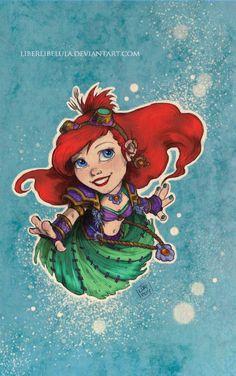 Princesas de Disney rediseñados como 'World of Warcraft' Personajes - Parte 15