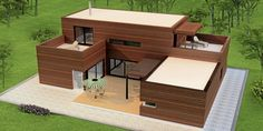 HØVIK Oppfølgeren til Høvik 1 fra Systemhus er et livsløpshus. Florida House Plans, Florida Home, Minecraft House Designs, Minecraft Houses, Container Homes Cost, Container Houses, Safari, Timber Frame Homes, Outdoor Furniture Sets