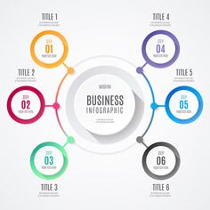 Modern Business Infographic Free Vector