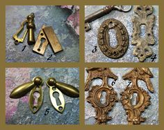 1 Vintage Brass Key Hole Escutcheon by CaityAshBadashery on Etsy
