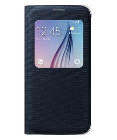 Samsung Galaxy S6 S View Flip Case Stof Zwart