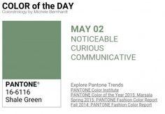 ...y el color de hoy es Verde Exquisito, un color perceptible, curioso, comunicativo. Más info en http://www.pyma.com/tutoriales-y-trucos/y-los-colores-pantone-de-esta-semana-sonsemana-del-2-al-8-de-mayo/