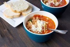 Lasagna Soup - prob could reduce the cheese quite a bit to lower calories, maybe even sub ground turkey for sausage...