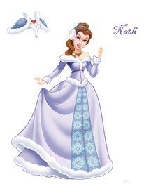 Belle de tenue d'hivers. Disney Nerd, Disney Fan Art, Cute Disney, Walt Disney, Disney Princess Belle, Disney Princess Drawings, Images Disney, Disney Pictures, Disney Dream