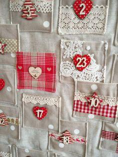 Handmade Fabric Christmas Advent Calendar by TheLittleFabricStall