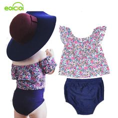 EOICIOI Summer Set baby girls clothing shirt PP pants Sets infant clothing Cute Flower bebe clothes newborn baby girl clothes #Affiliate