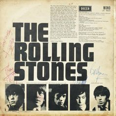 The Rolling Stones: A signed album cover - The Rolling Stones, Decca, 1964,