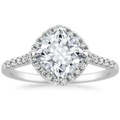 IN LOVE with this 18K White Gold Cometa Diamond Ring (1/4 ct. tw.) from Brilliant Earth