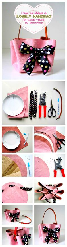 How to Make a Lovely Handbag in Less than 10 Minutes