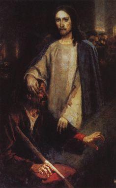 WikiPaintings.org - the encyclopedia of painting. Healing the Man Born Blind. Vasily Surikov.