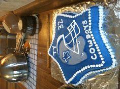 Dallas cowboys cake, birthday cake, #WILTONCONTEST, (Michael's, Salt Lake City, UT), course 1