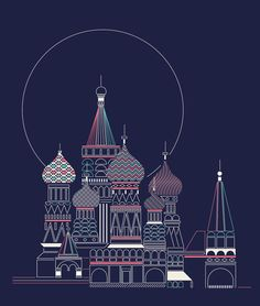 Moscú by Verónica De Fazio, via Behance