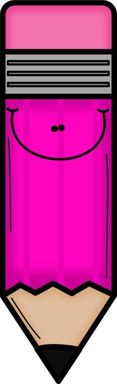 PINK PENCIL CLIP ART