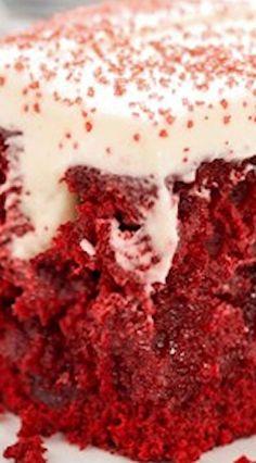 Red Velvet Poke Cake (from scratch)