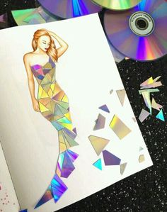Mosaic designer dress