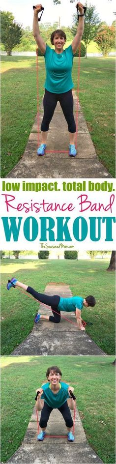 This Low Impact Resistance Band Workout combines cardio and strength training fo… This Low Impact Resistance Band Workout combines cardio and strength training for a total body exercise routine that you can do almost anywhere — in just 20 minutes! Best Weight Loss, Weight Loss Tips, Resistance Band Exercises, Resistance Workout, Resistance Tube, Low Impact Workout, Keep Fit, Gym, Workout For Beginners
