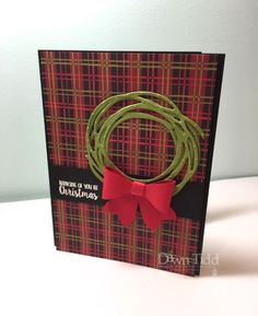 Swirly Christmas Wreath by - Cards and Paper Crafts at Splitcoaststampers Christmas Cards 2018, Stamped Christmas Cards, Xmas Cards, Handmade Christmas, Holiday Cards, Christmas Wreaths, Christmas Crafts, Winter Cards, Homemade Cards