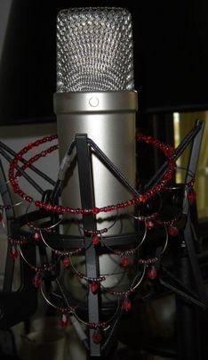 My vocal mic, all dressed up for recording