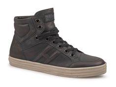 Sneakers alte Hogan Rebel uomo in Pelle di vitello Blu scuro - Italian Boutique $172