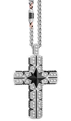 Diamond Cross, Black Magic, Crosses, Cross Pendant, Retro, Jewelry, Men's Jewelry, Jewels, Jewerly