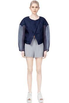Sheer Silk Organza Jacket