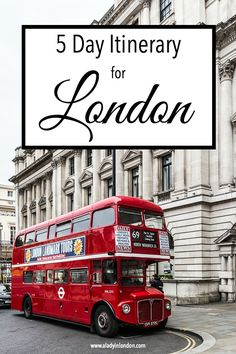 5-day London itinerary. 5 days is a great amount of time to see London and travel a bit further afield.