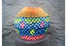 Wazonik origami.