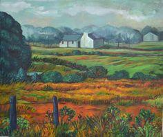 Karoo Tertia Dorfling South African Artists, Fauvism, Artist Painting, Van Gogh, Landscape Paintings, Gallery, Acrylics, Pastels, Beautiful