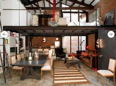 I could live here, sans kids. Poll Barn House, Loft Stil, Interior Decorating, Interior Design, Industrial Decorating, Urban Loft, Beautiful Interiors, Home And Living, Building A House