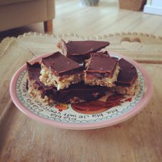 Homemade guilt free snickers