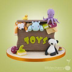 Little Cherry Cake Company - toy box cake Spy Cake, 1 Year Old Cake, Gift Box Cakes, 2 Birthday Cake, Cherry Cake, Cute Cakes, Awesome Cakes, Novelty Cakes, Cakes For Boys